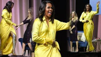 Трамп против Обамы: Мелания надела экстравагантный желтый наряд Мишель, и люди не могут перестать их сравнивать